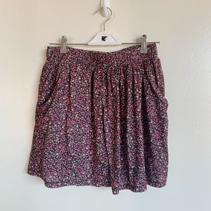 Navy and pink floral mini skirt XSP